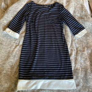 Striped Navy Shift Dress